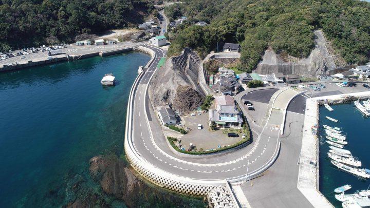 葛輪漁港関連道整備工事(合併)(2工区)